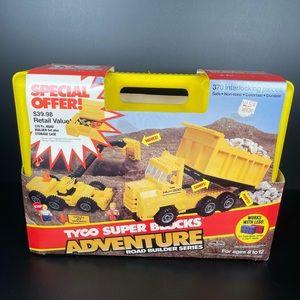 1986 Tyco Super Blocks Road Builder Deluxe Set